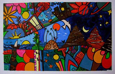 Painting - Los Caminos De Colores by MikAn 'sArt