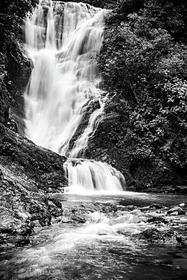 Los Campesinos Waterfall Bw Art Print by Cara Koch