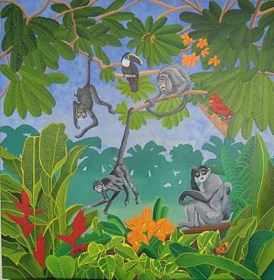 Chango Painting - Los Changos De Belice by Sergio Roffe