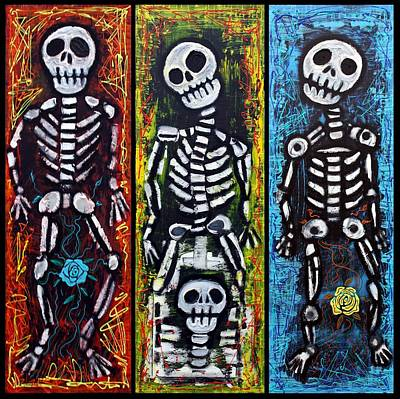 Compadres Painting - Los Compadres Muertos by Laura Barbosa
