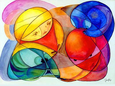 Painting - Los Elementos by Claudio  Espinosa