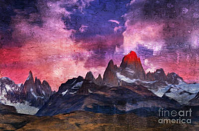 Digital Art - Los Glaciares National Park, Argentina by Rod Jellison