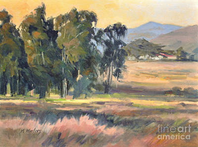 Los Osos Valley - For The Love Of The Land - California Landscape Painting Art Print by Karen Winters