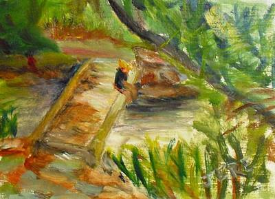 Painting - Los Penasquitos Canyon Foot Bridge by Jeremy McKay