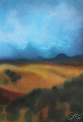 Painting - Los Penasquitos Canyon Vii Or Approaching Storm by Robin Street-Morris