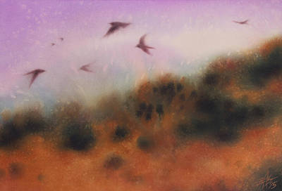 Painting - Los Penasquitos Canyon Vii Or The Swallows Return by Robin Street-Morris