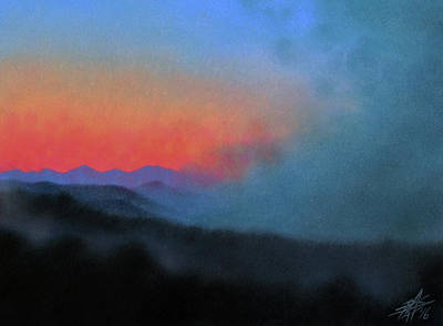 Los Penasquitos Canyon Xiii--coastal Fog At Dawn Art Print by Robin Street-Morris