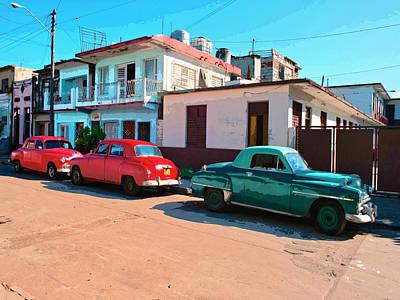Cuba 3 Mixed Media - Los Tres Amigos by Dominic Piperata