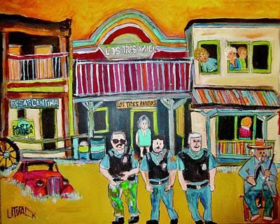 Painting - Los Tres Amigos by Michael Litvack