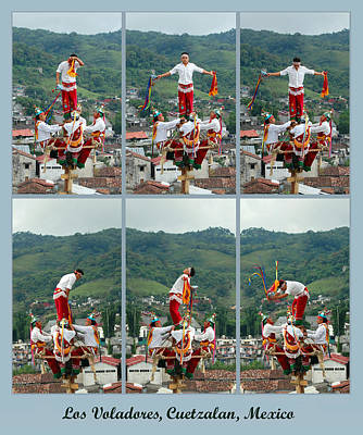 Photograph - Los Voladores Flying Dancers by George Olney