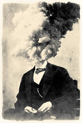 Exploding Head Digital Art - Losing Your Head by Dylan Murphy