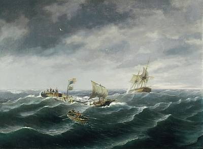 Loss Of The Schooner 'john S. Spence' Of Norfolk Print by Thomas Birch