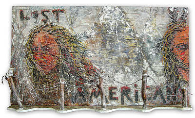 Lost Americans At Wounded Knee Art Print by Tony A Blue
