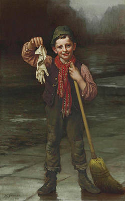 Found Art Painting - Lost And Found by John George Brown