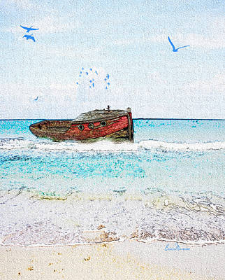 Photograph - Lost At Sea by Ericamaxine Price