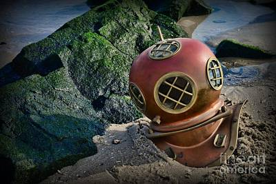 Diving Helmet Photograph - Lost At Sea by Paul Ward