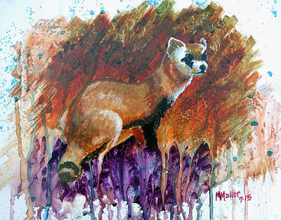 Black-footed Ferret Painting - Lost Black-footed Ferret by Marcus Moller