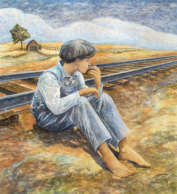 Painting - Lost Boy by Paula Blasius McHugh