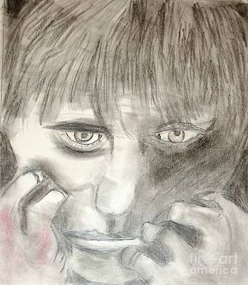 Drawing - Lost Boy by Victoria Hasenauer