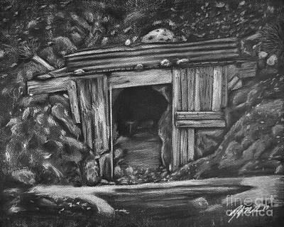 Death Valley Drawing - Lost Burro Mine Death Valley by Jennifer Gerke