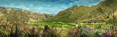 Photograph - Lost Canyon Golf Course Santa Susana Mountains by David Zanzinger