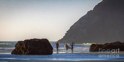 Photograph - Lost Coast Surfers by Mitch Shindelbower
