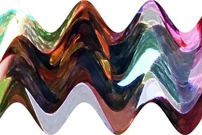 Art Print featuring the digital art Lost Earring by Ellen Barron O'Reilly
