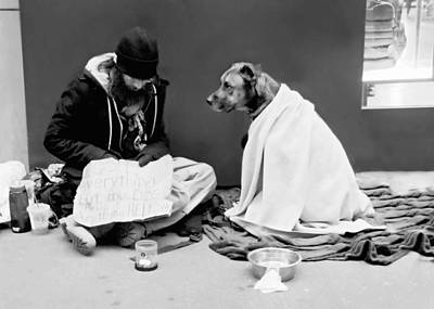 Homeless Pets Photograph - Lost Everything But My Dog by Diana Angstadt