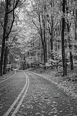 Road Photograph - Lost In Pennsylvania Bw by Steve Harrington