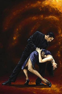 Tango Painting - Lost In Tango by Richard Young