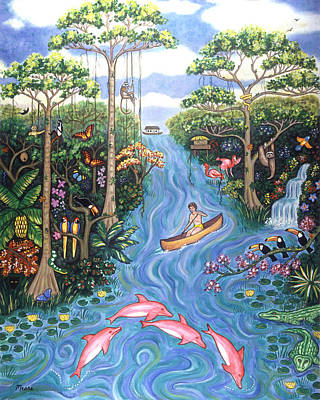 Landscape Painting - Lost In The Amazon by Linda Mears