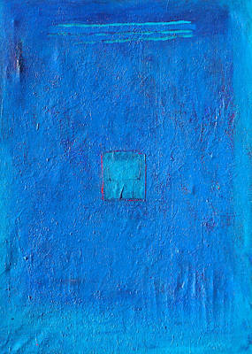 Monica Sweet Painting - Lost In The Blue by Habib Ayat