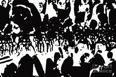 Digital Art - Lost In The Crowd by Nina Silver