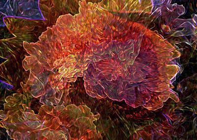 Digital Art - Lost In The Flowers by Lynda Lehmann