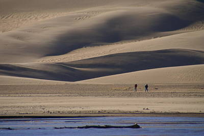 Photograph - Lost In The Great Sand Dunes by Bj Hodges