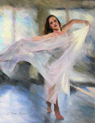 Dance Ballet Roses Painting - Lost In The Moment by Anna Rose Bain