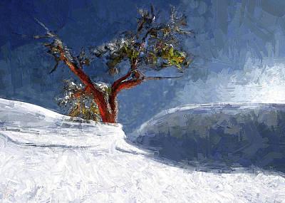 Lost In The Snow Art Print by Alex Galkin