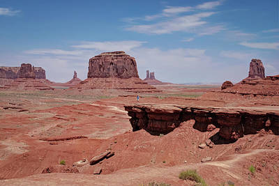 Photograph - Lost In The Valley - Monument Valley Landscape by Gregory Ballos