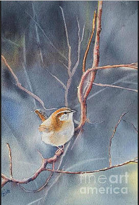 Carolina Wren Painting - Lost In Thought by Patricia Pushaw