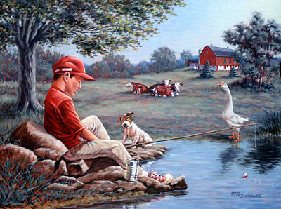 Geese Painting - Lost In Thought by Richard De Wolfe