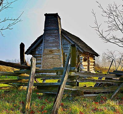 Cabin Window Digital Art - Lost In Time by Robert Pearson