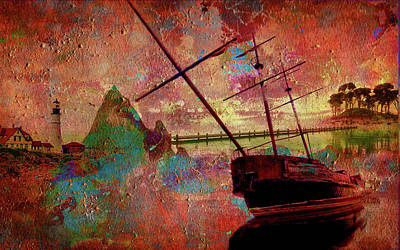 Digital Art - Lost Island by Greg Sharpe