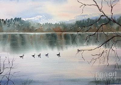 Painting - Lost Lagoon Evening by Yohana Knobloch