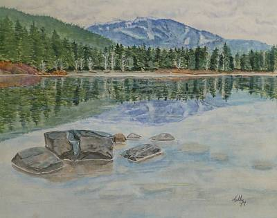 Painting - Lost Lake Whistler Bc Canada by Kelly Mills