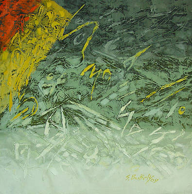 Painting - lost letter VIIII by Saadi Babely