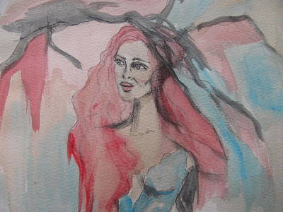 Woman.abstract Painting - Lost by Lindie Racz
