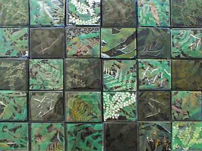 Fused Glass Mixed Media - Lost Rainforest by Srah King