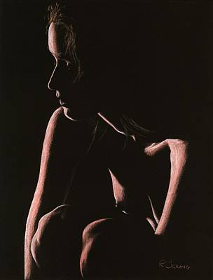 Semi-nude Pastel - Lost by Richard Young