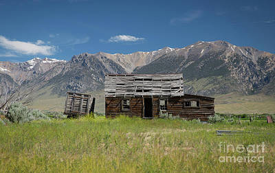 Old Cabins Photograph - Lost River Range Cabin by Idaho Scenic Images Linda Lantzy