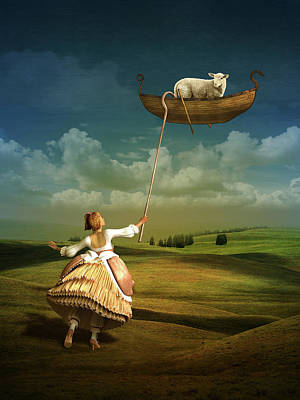 Surrealism Mixed Media Rights Managed Images - Lost sheep Royalty-Free Image by Britta Glodde